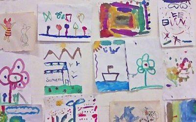 Kinderbetreuung beim WelcomeCamp: #kidswelcome