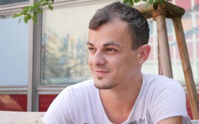 Streetart auf dem WelcomeCamp: Martin Ivičević