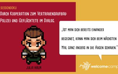 Durch Kooperation zum Vertrauensaufbau: Polizei und Geflüchtete im Dialog (WelcomeCamp Sessiondoku 2021)